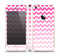 The Pink & White Ombre Chevron Pattern Skin Set for the Apple iPhone 5s