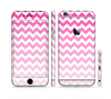 The Pink & White Ombre Chevron Pattern Sectioned Skin Series for the Apple iPhone 6
