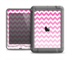 The Pink & White Ombre Chevron Pattern Apple iPad Air LifeProof Nuud Case Skin Set