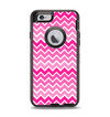 The Pink & White Ombre Chevron V2 Pattern Apple iPhone 6 Otterbox Defender Case Skin Set