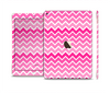The Pink & White Ombre Chevron V2 Pattern Skin Set for the Apple iPad Pro