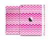 The Pink & White Ombre Chevron V2 Pattern Skin Set for the Apple iPad Mini 4