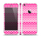The Pink & White Ombre Chevron V2 Pattern Skin Set for the Apple iPhone 5