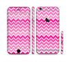 The Pink & White Ombre Chevron V2 Pattern Sectioned Skin Series for the Apple iPhone 6s Plus