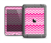 The Pink & White Ombre Chevron V2 Pattern Apple iPad Air LifeProof Nuud Case Skin Set