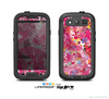 The Pink & White Paisley Pattern V421 Skin For The Samsung Galaxy S3 LifeProof Case