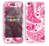 The Pink & White Paisley Pattern V421 Skin for the Apple iPhone 5c