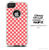 The Pink & White Plaid Skin For The iPhone 4-4s or 5-5s Otterbox Commuter Case