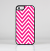 The Pink & White Sharp Chevron Pattern Skin-Sert for the Apple iPhone 5c Skin-Sert Case