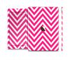 The Pink & White Sharp Chevron Pattern Skin Set for the Apple iPad Pro
