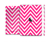 The Pink & White Sharp Chevron Pattern Skin Set for the Apple iPad Mini 4