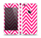 The Pink & White Sharp Chevron Pattern Skin Set for the Apple iPhone 5
