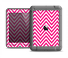 The Pink & White Sharp Chevron Pattern Apple iPad Air LifeProof Nuud Case Skin Set
