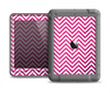 The Pink & White Sharp Glitter Print Chevron Apple iPad Air LifeProof Nuud Case Skin Set