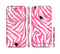 The Pink & White Vector Zebra Print Sectioned Skin Series for the Apple iPhone 6s
