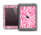 The Pink & White Vector Zebra Print Apple iPad Air LifeProof Fre Case Skin Set