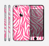 The Pink & White Vector Zebra Print Skin for the Apple iPhone 6