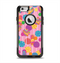 The Pink With Vector Color Treats Apple iPhone 6 Otterbox Commuter Case Skin Set