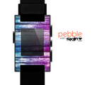 The Pink & Blue Dyed Wood Skin for the Pebble SmartWatch