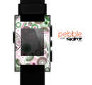 The Pink & Green Floral Paisley Skin for the Pebble SmartWatch