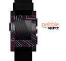The Pink & Light Blue Abstract Maze Pattern Skin for the Pebble SmartWatch