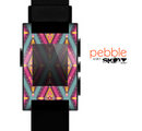 The Pink & Teal Abstract Mirrored Design Skin for the Pebble SmartWatch