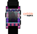 The Pink & Teal Modern Colored Aztec Pattern Skin for the Pebble SmartWatch