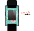 The Pink & Teal Paisley Design Skin for the Pebble SmartWatch es