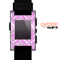 The Pink & White Delicate Pattern Skin for the Pebble SmartWatch