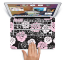 "The Pink and Black Rose Pattern V3 Skin Set for the Apple MacBook Pro 15"" with Retina Display"