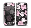 The Pink and Black Rose Pattern V3 Skin Set for the iPhone 5-5s Skech Glow Case