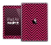 The Pink and Black Sharp Chevron Pattern Skin for the iPad Air