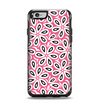 The Pink and Black Vector Floral Pattern Apple iPhone 6 Otterbox Symmetry Case Skin Set