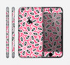The Pink and Black Vector Floral Pattern Skin for the Apple iPhone 6