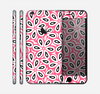 The Pink and Black Vector Floral Pattern Skin for the Apple iPhone 6 Plus