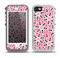 The Pink and Black Vector Floral Pattern Skin for the iPhone 5-5s OtterBox Preserver WaterProof Case