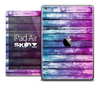 The Pink and Blue Dyed Wood Skin for the iPad Air