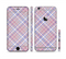 The Pink and Blue Layered Plaid Pattern V4 Sectioned Skin Series for the Apple iPhone 6s