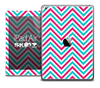 The Pink and Blue Sharp Chevron Skin for the iPad Air