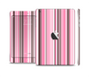 The Pink and Brown Fashion Stripes Skin Set for the Apple iPad Mini 4