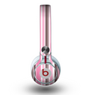 The Pink and Brown Fashion Stripes Skin for the Beats by Dre Mixr Headphones