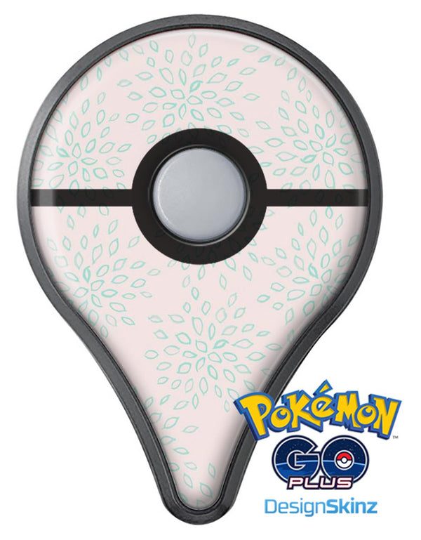 The Pink and Mint Floral Sprout Pokémon GO Plus Vinyl Protective Decal Skin Kit