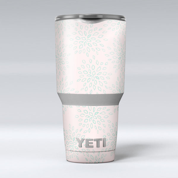 The_Pink_and_Mint_Floral_Sprout_-_Yeti_Rambler_Skin_Kit_-_30oz_-_V1.jpg