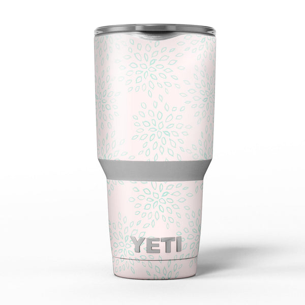 The_Pink_and_Mint_Floral_Sprout_-_Yeti_Rambler_Skin_Kit_-_30oz_-_V5.jpg