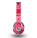 The Pink and Red Hearts in Blocks Skin for the Beats by Dre Original Solo-Solo HD Headphones