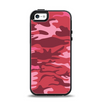 The Pink and Red Tradtional Camouflage Apple iPhone 5-5s Otterbox Symmetry Case Skin Set