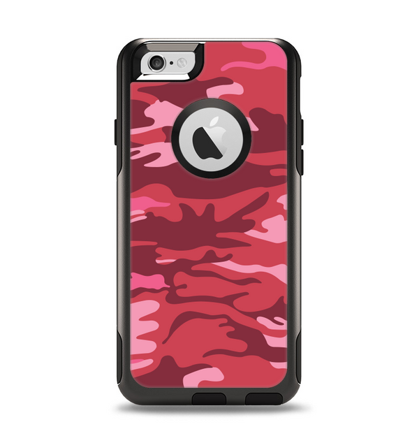 The Pink and Red Tradtional Camouflage Apple iPhone 6 Otterbox Commuter Case Skin Set
