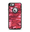 The Pink and Red Tradtional Camouflage Apple iPhone 6 Otterbox Defender Case Skin Set