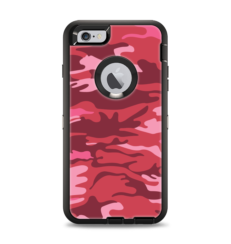 The Pink and Red Tradtional Camouflage Apple iPhone 6 Plus Otterbox De -  DesignSkinz 275a3cfb48e6