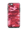 The Pink and Red Tradtional Camouflage Apple iPhone 6 Plus Otterbox Symmetry Case Skin Set